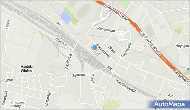 Chorzów, Armii Krajowej, mapa Chorzów