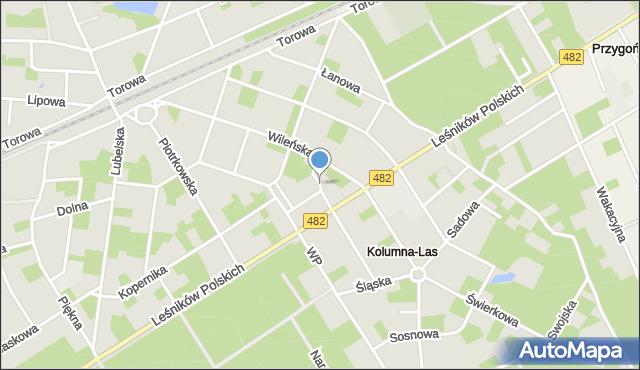 Łask, Bazarowa, mapa Łask
