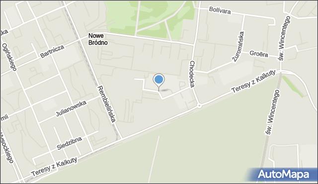 Warszawa, Balkonowa, mapa Warszawy