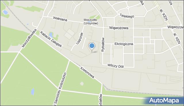 Warszawa, Batystowa, mapa Warszawy