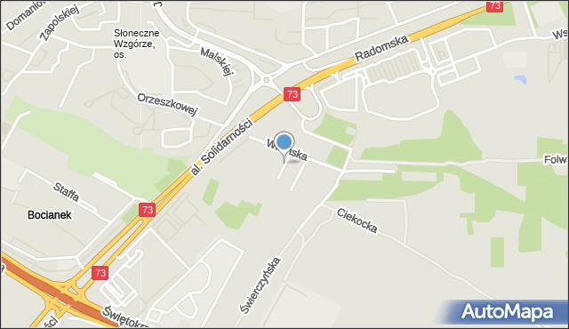 Kielce, Bęczkowska, mapa Kielc