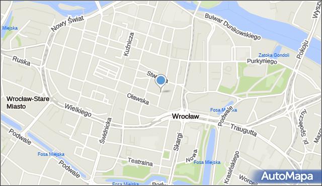 Wrocław, Biskupia, mapa Wrocławia