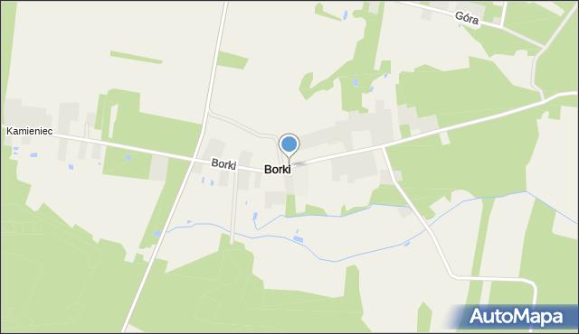Łubnice, Borki, mapa Łubnice
