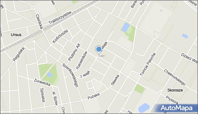 Warszawa, Boh. Warszawy, mapa Warszawy