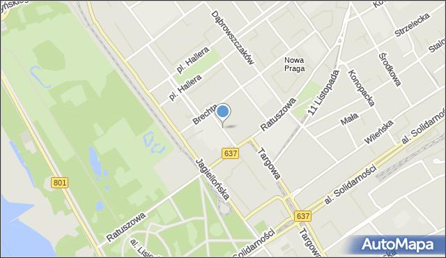 Warszawa, Borowskiego Tadeusza, mapa Warszawy
