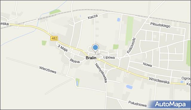 Bralin, Bralin, mapa Bralin