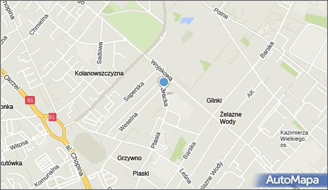 Włocławek, Bracka, mapa Włocławka