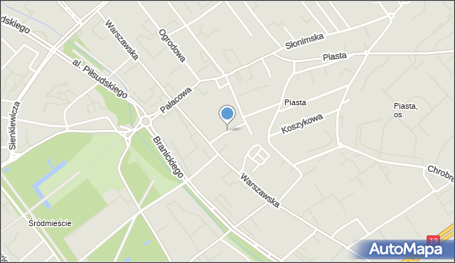 Białystok, Bukowskiego Stanisława, mapa Białegostoku