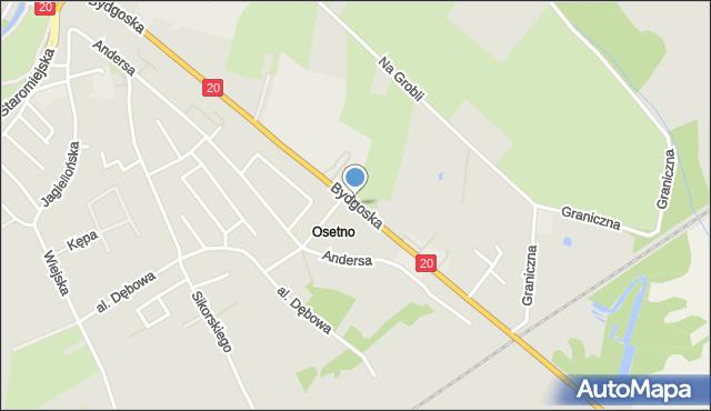 Stargard Szczeciński, Bydgoska, mapa Stargardu Szczecińskiego