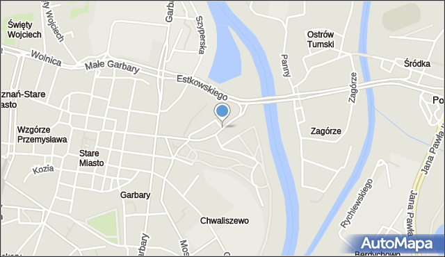 Poznań, Chwaliszewo, mapa Poznania