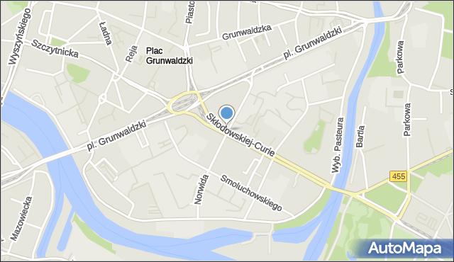 Wrocław, Curie-Skłodowskiej Marii, mapa Wrocławia