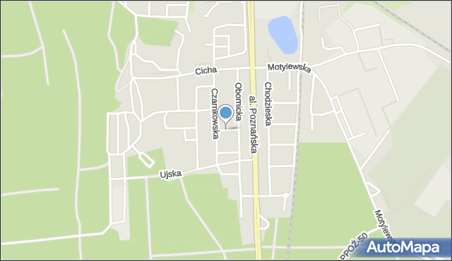 Piła, Czarnkowska, mapa Piły