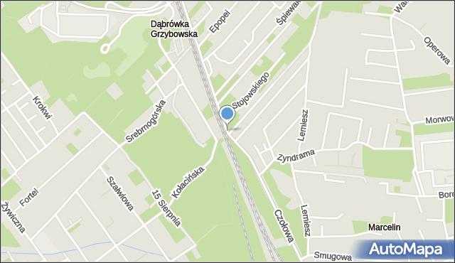 Warszawa, Czołowa, mapa Warszawy