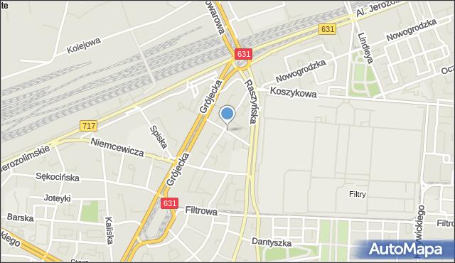 Warszawa, Daleka, mapa Warszawy