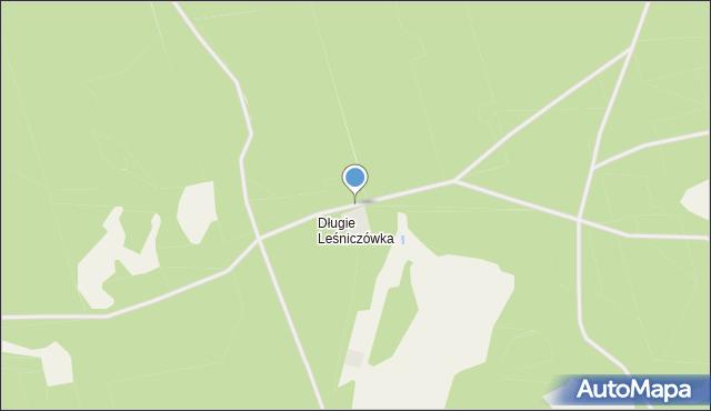Długie Leśniczówka, Długie Leśniczówka, mapa Długie Leśniczówka