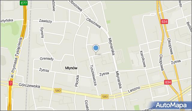 Warszawa, Długosza Jana, mapa Warszawy