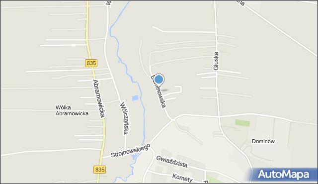 Lublin, Dominowska, mapa Lublina