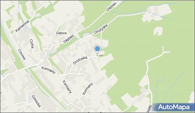 Brenna, Drożyska, mapa Brenna