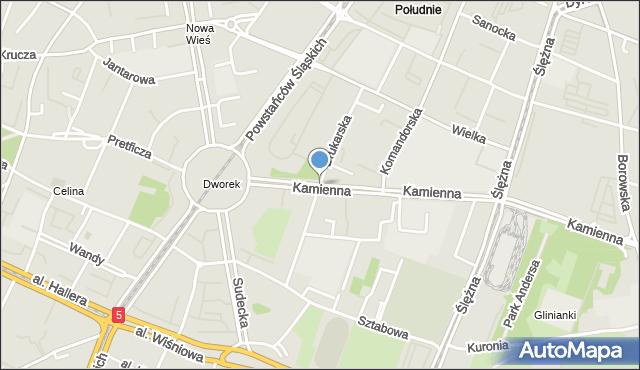 Wrocław, Drukarska, mapa Wrocławia