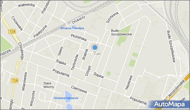 Warszawa, Dziupli, mapa Warszawy