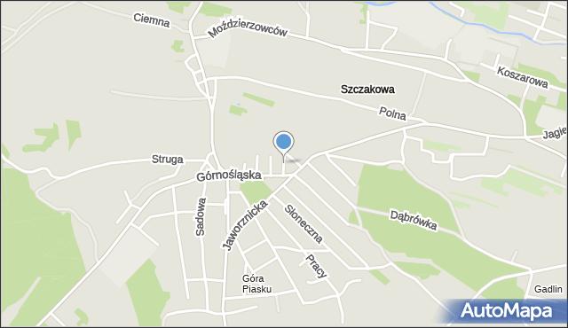 Jaworzno, Głogowa, mapa Jaworzno