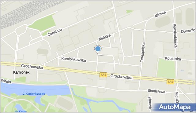 Warszawa, Gocławska, mapa Warszawy