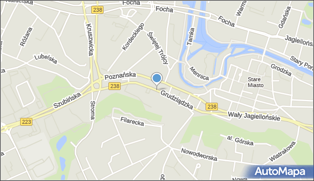 Bydgoszcz, Grudziądzka, mapa Bydgosz