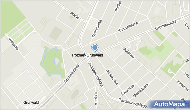 Poznań, Grunwaldzka, mapa Poznania