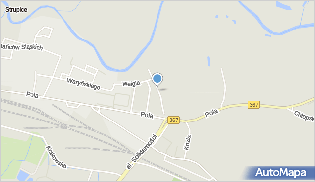 Jelenia Góra, Hallerczyków, mapa Jelenia Góra