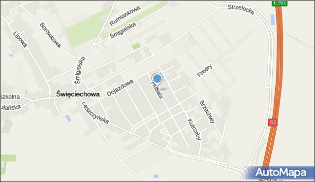 Święciechowa, Hubala Henryka, mjr., mapa Święciechowa