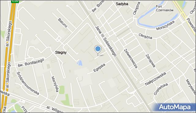 Warszawa, Iberyjska, mapa Warszawy