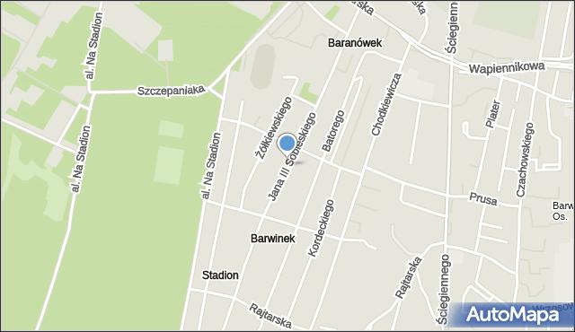 Kielce, Jana III Sobieskiego, mapa Kielc
