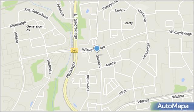 Olsztyn, Jarocka, mapa Olsztyna