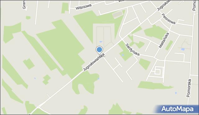 Łódź, Jugosłowiańska, mapa Łodzi