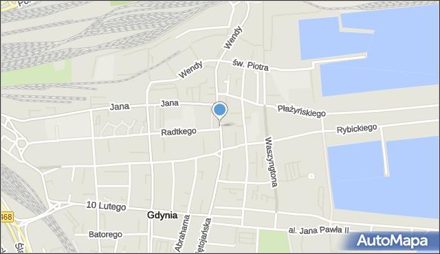 Gdynia, Kaszubski, pl., mapa Gdyni