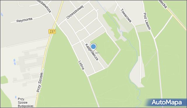 Tuchola, Kasprowicza Jana, mapa Tuchola