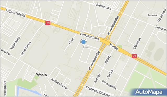 Warszawa, Kazimierza Wielkiego, mapa Warszawy