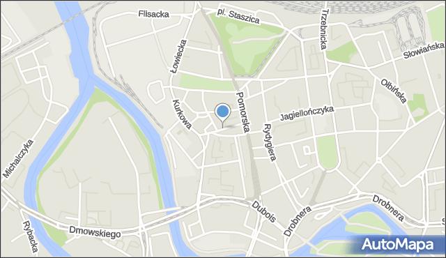 Wrocław, Kaszubska, mapa Wrocławia