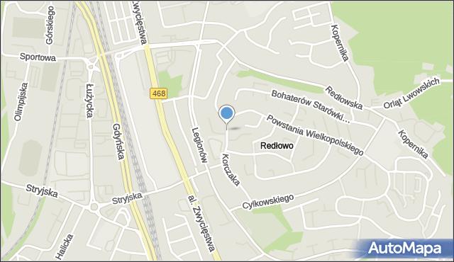 Gdynia, Korczaka Janusza, mapa Gdyni