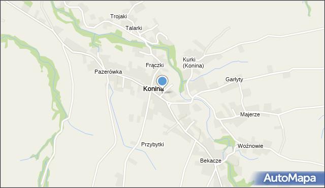 Konina, Konina, mapa Konina