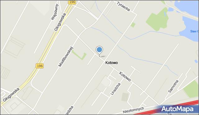 Poznań, Kotowo, mapa Poznania