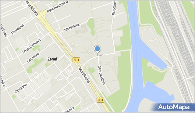 Warszawa, Kowalczyka Anastazego, mapa Warszawy