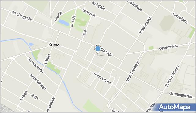 Kutno, Królewska, mapa Kutno