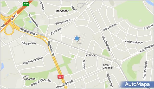 Warszawa, Krechowiecka, mapa Warszawy