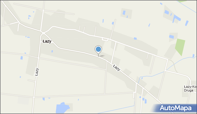 Łazy, Łazy, mapa Łazy