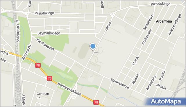 Zawiercie, Leśna, mapa Zawiercie