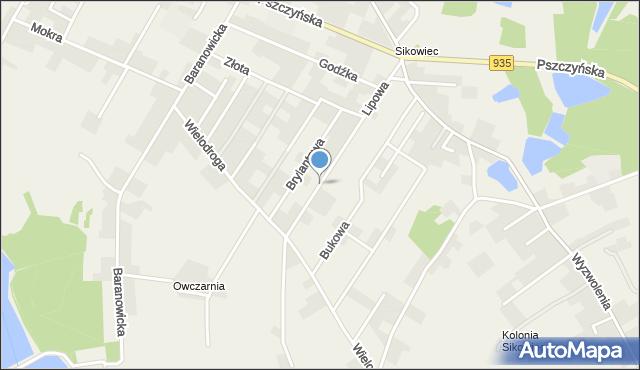 Suszec, Lipowa, mapa Suszec