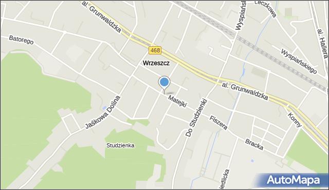 Gdańsk, Matejki Jana, mapa Gdańska