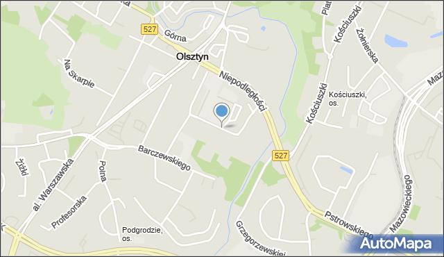 Olsztyn, Mariańska, mapa Olsztyna