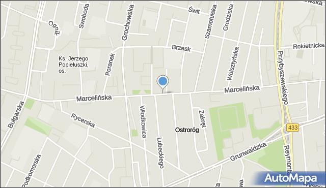 Poznań, Marcelińska, mapa Poznania